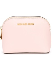 Michael Michael Kors Zipped Make Up Bag Pink And Purple