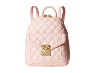 Love Moschino Quilted Emblem Mini Backpack Pink