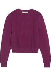 Richard Nicoll Cropped Cable Knit Sweater