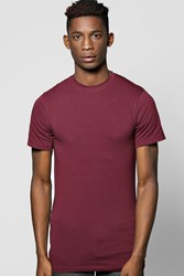 Boohoo Muscle Fit Crew Neck Tshirt Burgundy