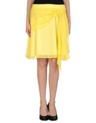 Le Ragazze Di St. Barth Knee Length Skirts Yellow