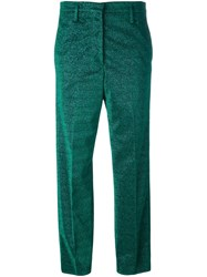 Golden Goose Deluxe Brand Glitter Tailored Trousers Green