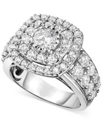 Trumiracle Diamond Double Halo Engagement Ring 3 Ct. T.W. In 14K White Gold