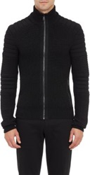 Ralph Lauren Black Label Zip Front Moto Cardigan Black