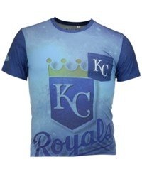 Forever Collectibles Men's Kansas City Royals Pocket Sublimated T Shirt Lightblue Navy