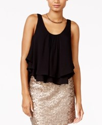 Chelsea Sky Tiered Gauze Tank Top Only At Macy's Black