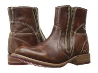 Bed Stu Eiffel Teak Driftwood Leather Women's Zip Boots Brown