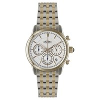 Rotary Gb02877 06 Men's Monaco Chronograph Two Tone Bracelet Strap Watch Silver Rose Gold