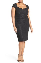 Marina Plus Size Women's Cutout Shimmer Sheath Dress
