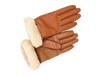 Ugg Classic Leather Smart Glove Chestnut Dress Gloves Brown
