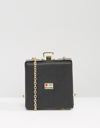 Love Moschino Structured Cross Body Bag Black