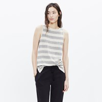 Madewell Modern Linen Tank Top In Stripe