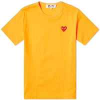 Comme Des Garcons Play Colour Series Logo Tee Yellow