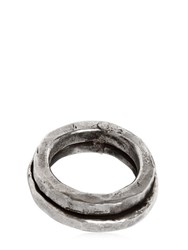 Emanuele Bicocchi Double Silver Ring