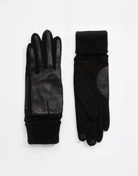 Esprit Nappa Leather Gloves Black