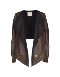 Maison Espin Blazers Dark Brown