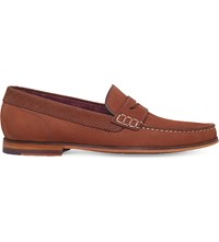 Ted Baker Miicke 2 Suede Penny Loafers Rust