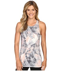 Lucy Begin Within Tank Top Pastel Glacier Print Women's Sleeveless Gray