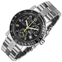 Raymond Weil W1 Black Stainless Steel Chronograph Watch W Tachymetre