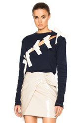 Jacquemus Knotted Top In Blue