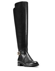 Michael Michael Kors Bryce Mid Calf Leather Riding Boots Black