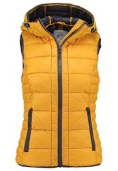 S.Oliver Denim Waistcoat Golden Yellow