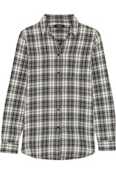 Madewell Eden Plaid Cotton Flannel Shirt Blue