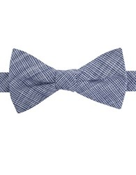 William Rast Cotton Micro Checked Bow Tie Navy