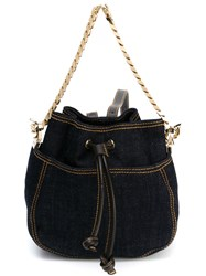Dsquared2 Mini Denim Backpack Blue