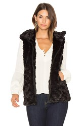 David Lerner Caroline Faux Fur Vest Black
