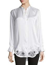 Iro Olwen Embroidered Hem Blouse