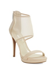Bcbgeneration Gerbera Platform Leather Stilettos Beige