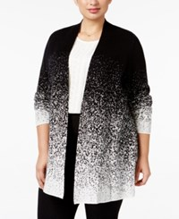 Charter Club Plus Size Ombre Duster Cardigan Only At Macy's Deep Black Combo