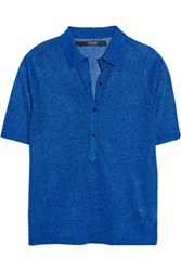 Sibling Metallic Knitted Polo Shirt Bright Blue