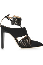 Reed Krakoff Mesh Rubber And Patent Leather Pumps Black