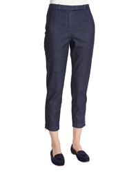Loro Piana Davis Cropped Denim Pants Ombre Blue Women's