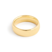 J.Crew 14K Gold 6Mm Rounded Band