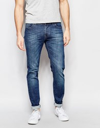 United Colors Of Benetton Mid Wash Jeans In Slim Fit Blue