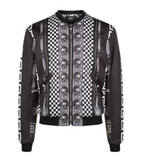 Versus By Versace Graphic Print Bomber Jacket Male Black
