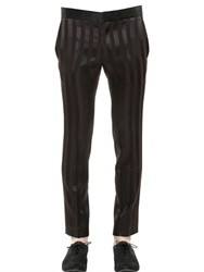 Haider Ackermann Striped Wool And Silk Jacquard Pants