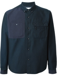 White Mountaineering Military Style Shirt Blue