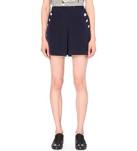 Izzue Buttoned Woven Shorts Navy