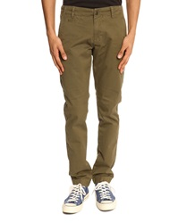 Knowledge Cotton Apparel Twisted Twill Khaki Chinos