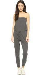 Wilt Bandeau Jumpsuit Distressed Black