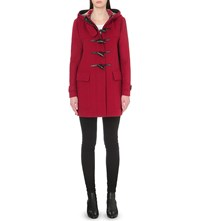 Burberry Baysbrooke Wool Duffle Coat Windsor Red