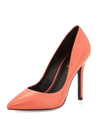 Charles By Charles David Pact Leather Pointed Toe Pump Coral
