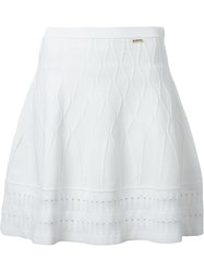 Dsquared2 Textured A Line Skirt White