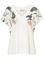 Betty Barclay And Co. Printed Top White Multi