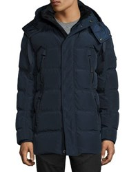 Andrew Marc New York Landowne Microsheen Quilted Down Parka Ebony