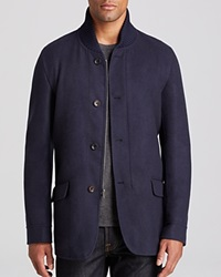 The Men's Store At Bloomingdale's Woven Four Button Jacket Bloomingdale's Exclusive Navy
